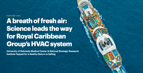 A breath of fresh air: Science leads the way for Royal Caribbean Group's HVAC system