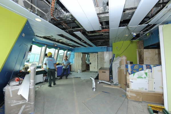 March 2012 - Royal Caribbean International's Rhapsody of the Seas undergoes a five-week revitalization that will include the addition of a Royal Babies and Tots Nursery for children ages six months to three year