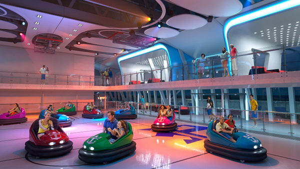 On Royal Caribbean's Quantum of the Seas and Anthem of the Seas, SeaPlex will feature the first-ever bumper car experience at sea, providing fun and thrills for guests of all ages.