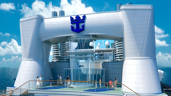 Quantum of the Seas and Anthem of the Seas will feature RipCord by iFly, the first-ever skydiving experience at sea, where everyone from first-time flyers to seasoned skydivers can enjoy the sheer thrill and exhilaration of flying.