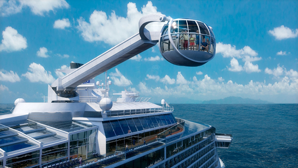 North Star, Quantum of the Seas' and Anthem of the Seas' most distinctive feature, will take Royal Caribbean guests to new heights on a breathtaking journey more than 300 feet above sea level.