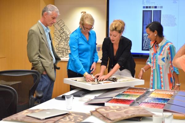 Interior Designer Working: Royal Caribbean Press Center
