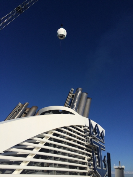 A set of new, custom-built antennae were shipped from Israel to Florida last month, and installed on Royal Caribbean International's Oasis of the Seas.