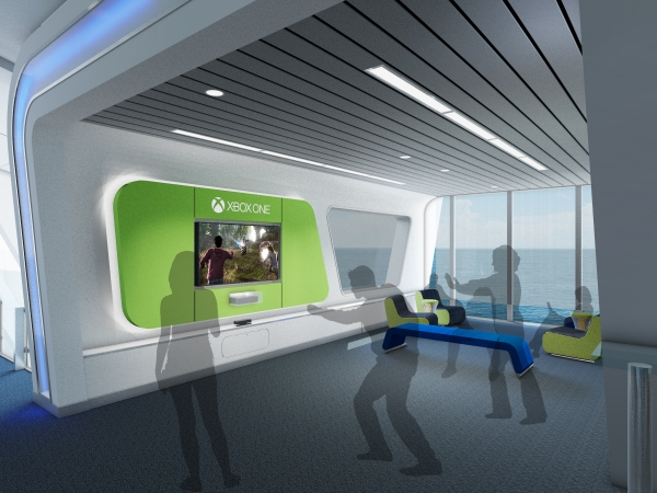 Quantum of the Seas' connectivity makes it possible for one of the SeaPods in SeaPlex to become a live global video gaming suite where guests can enjoy Xbox Live and compete with other gamers worldwide.
