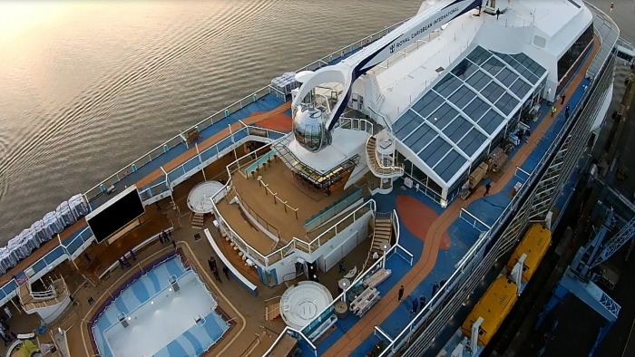 Quantum of the Seas ready for her second second set of sea trials prior to her debut.