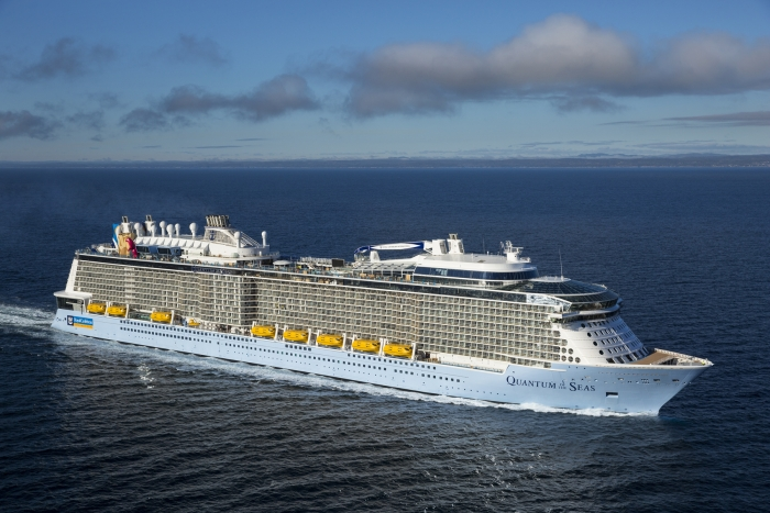 Quantum of the Seas at sea during her second sea trial.
