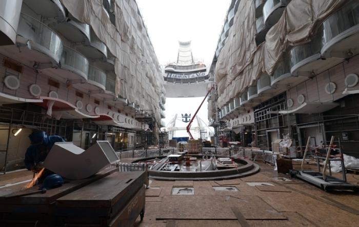 November 2015 - Harmony of the Seas under construction at the STX ship yard in France.