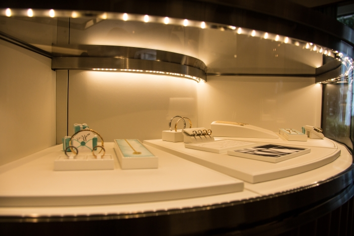 Royal Caribbean International and Tiffany & Co. today announced the first ever free-standing boutique at sea onboard Royal Caribbean'sOasis of the Seas. The store is located in the ship's lush Central Park neighborhood and will offer a full selection of Tiffany jewelry, including engagement rings and the recently introduced Tiffany T and Atlas collections, as well as Swiss made CT60 watches