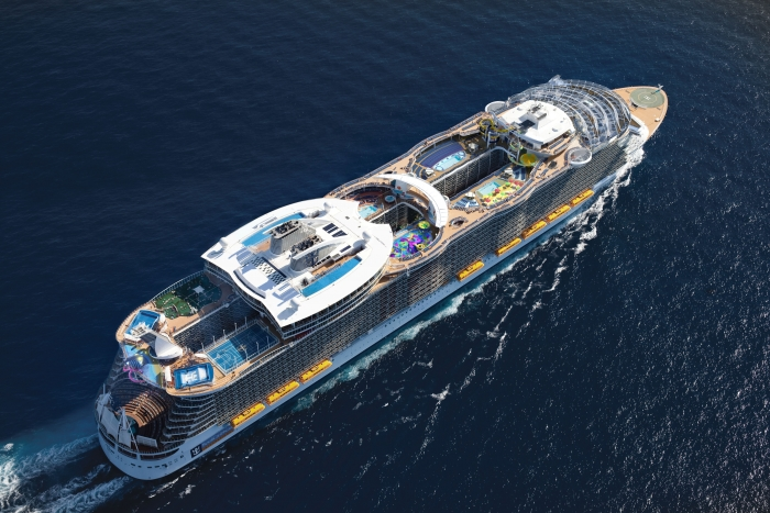 The Ultimate Abyss, the tallest slide at sea, will intimidate the bravest of guests onboard Harmony of the Seas when she debuts in May 2016. Towering more than 150 feet above sea level, the pair of side-by-side slides will release adrenalin-seeking travelers into a chilling 100 foot drop that twists and turns in a serpentine-like movement as they slide nine miles an hour from the Pool and Sports Zone on Deck 16 to the Boardwalk on Deck 6 below.