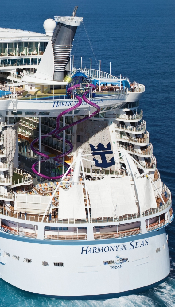 ROYAL CARIBBEAN UNVEILS FIRST LOOK AT THE TALLEST SLIDE AT SEA - Royal caribbean cruise to nowhere