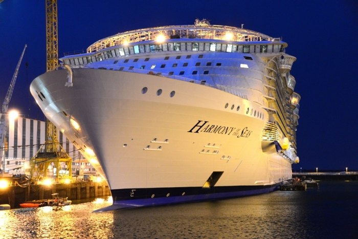 January 2016 - Harmony of the Seas under construction at the STX ship yard in France.