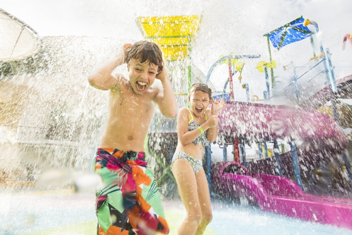 March 2016 - Kids onboard Liberty of the Seas have their own adult-free zone with the introduction of Splashaway Bay, an aqua park featuring an interactive kid's play area with water cannons, geysers and much more.