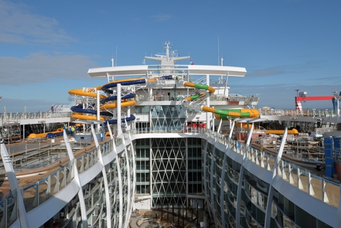 April 2016 - The Perfect Storm onboard Harmony of the Seas under construction at the STX shipyard in France.