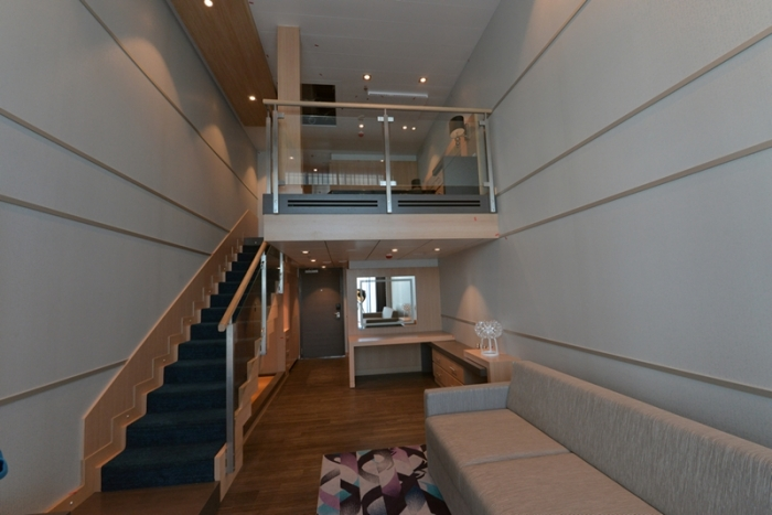 April 2016 - A loft suite currently under construction on Harmony of the Seas