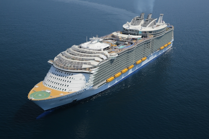 Aerial of Harmony of the Seas.