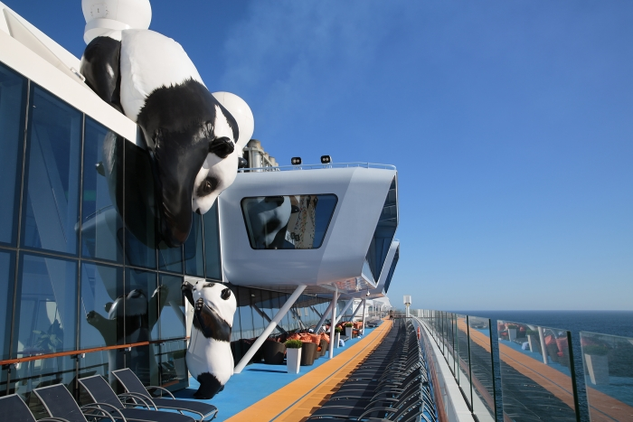 Mama and Baby pandas onboard Ovation of the Seas.