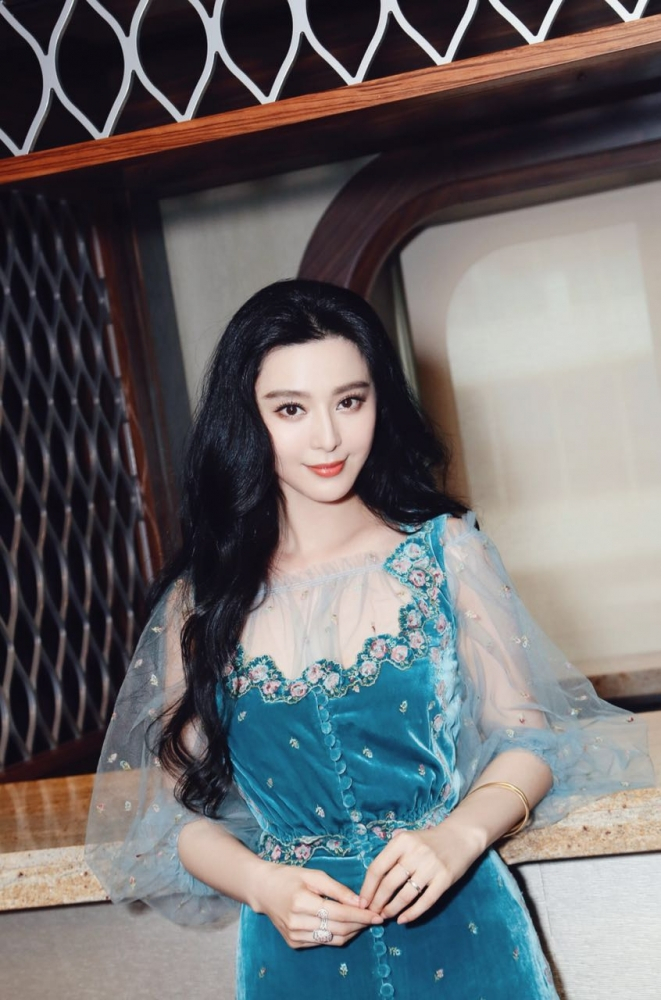 June 24, 2016 - Ovation of the Seas' godmother Fan BingBing participates in the official naming ceremony.