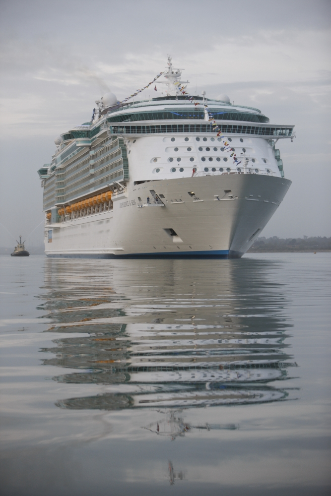 Aerial of Independence of the Seas
