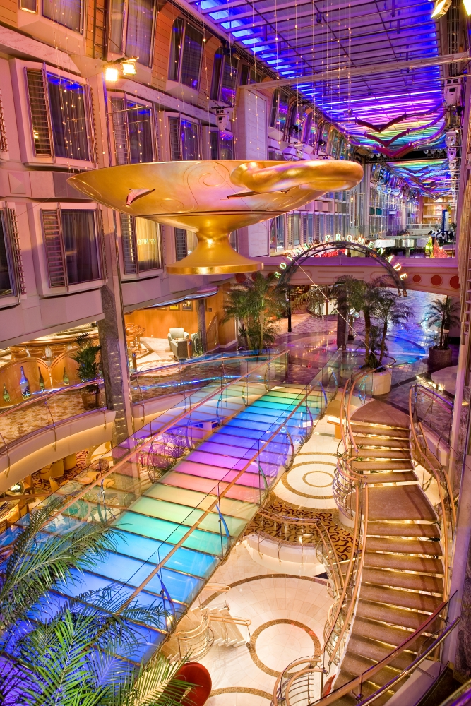 Royal Promenade onboard Independence of the Seas.