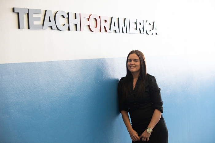 Brittany Affolter, Manager, Teacher Leadership Development, Teach for America Miami-Dade. Finalist in Royal Caribbean's search for a hometown hero in education to honor as Godmother of Harmony of the Seas.