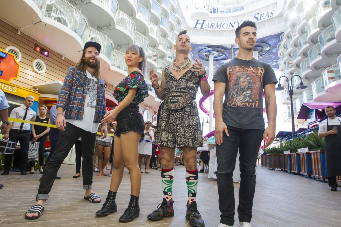 Multi-platinum selling band DNCE set sail for the Ultimate Friendsgiving on board the world's largest and most adventure-packed cruise ship, Royal Caribbean's new Harmony of the Seas
