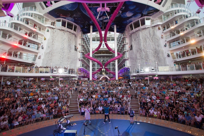 Cake by the ocean – literally! Multi-platinum selling band DNCE set sail for the Ultimate Friendsgiving on board the world's largest and most adventure-packed cruise ship, Royal Caribbean's new Harmony of the Seas.