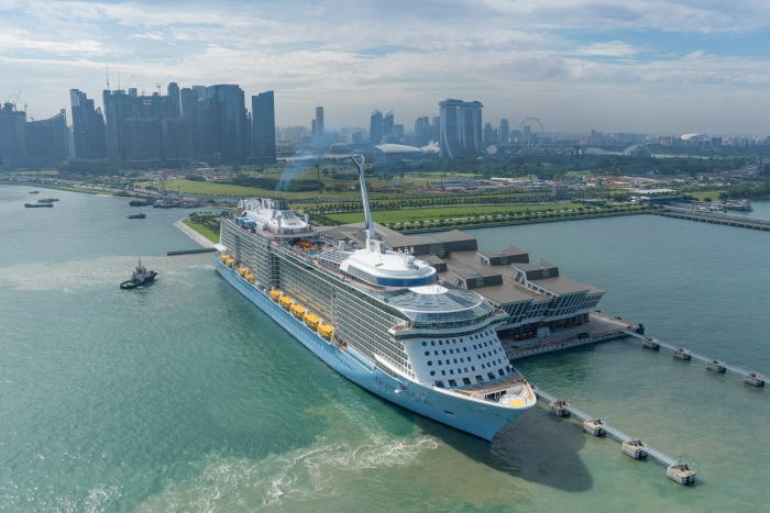 The Singapore-homeported Ovation of the Seas.