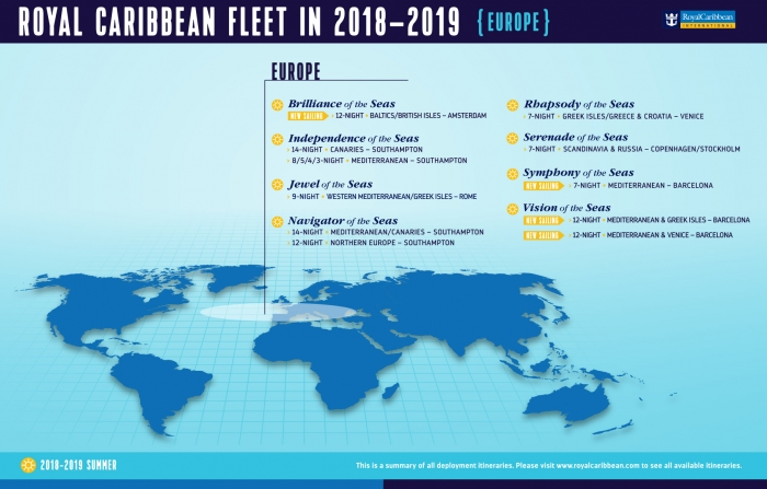 Navigator Of The Seas Royal Caribbean Press Center - Map of all the seas