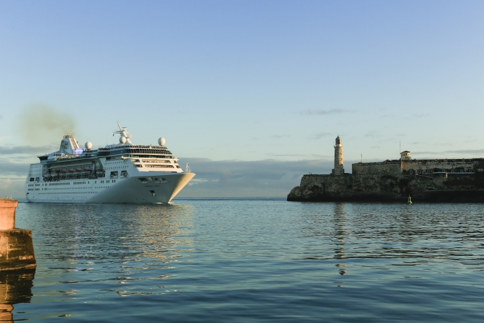 April 24, 2017 – It was a historic day for Royal Caribbean International yesterday when the cruise line made its inaugural visit to Cuba with the newly revitalized Empress of the Seas.