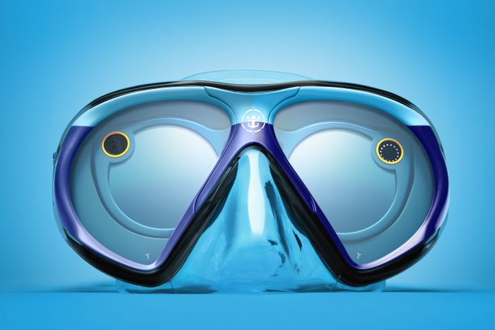 The SeaSeeker mask was custom engineered by Royal Caribbean for use with Snapchat Spectacles. It allows the wearer to snap while underwater and will give those above the surface a unique perspective into the intriguing underwater world of marine life.
