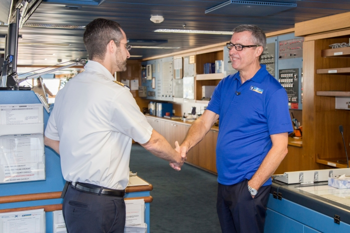 Royal Caribbean International's Adventure of the Seas returns to Port Everglades following a humanitarian relief cruise to the Caribbean. The cruise line worked with local government officials in Puerto Rico, St. Croix and St. Thomas to identify approximately 3,400 individuals for evacuation and to coordinate the delivery of emergency supplies. To date, Royal Caribbean has evacuated 8,000 people and employees, and delivered nearly one million cases of relief supplies to affected islands. Tuesday, Oct. 3, 2017 in Fort Lauderdale, Fla. (Jesus Aranguren/AP Images for Royal Caribbean)