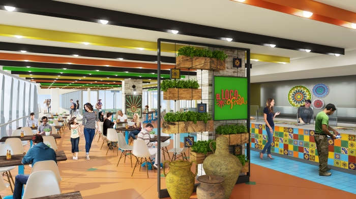 El Loco Fresh on Symphony of the Seas will offer a new option for a quick bite between adventures offering fresh tacos and Mexican fare made to order