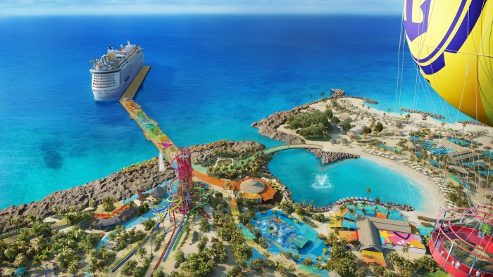 With Up, Up and Away, thrill seekers will score a view unlike any other while drifting 450 feet above Perfect Day at CocoCay in a colorful helium balloon, allowing them to take in the island from the highest vantage point in The Bahamas.