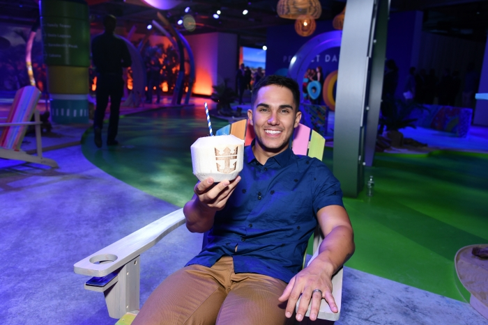 Actor and adventure seeker Carlos PenaVega previews Perfect Day at CocoCay, Bahamas, the first destination in Royal Caribbean's new Perfect Day Island Collection during an event at Seaport District NYC on Wednesday, March 14, 2018 in New York. (Photo by Charles Sykes/Invision for Royal Caribbean/AP Images)