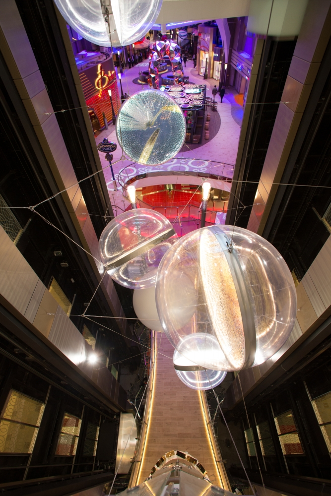 Elevator lift art installation called Imagine, created by Norbert Brunner onboard Symphony of the SeasCredit SBW-Photo