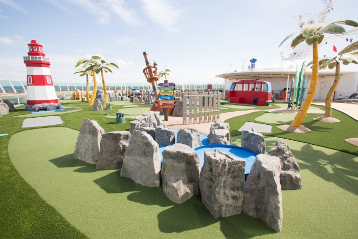 May 2018 - Mini Golf on board the new amped up Independence of the Seas
