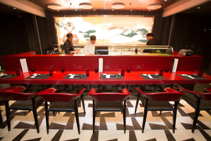 May 2018 - Izumi Hibachi & Sushi on board the new amped up Independence of the Seas