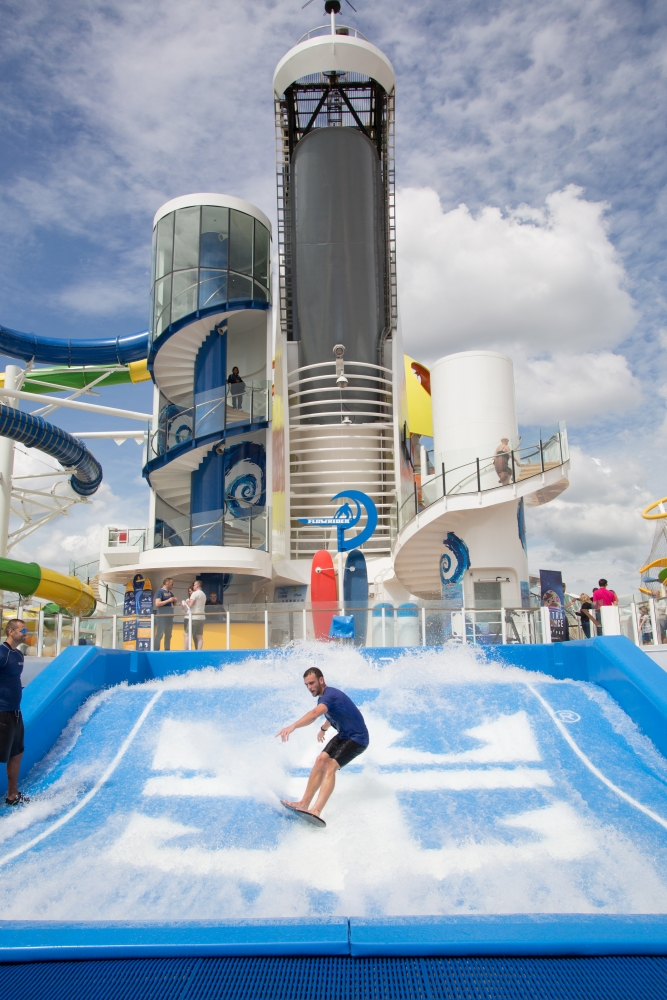 May 2018 - FlowRider Surf Simulator on board the new amped up Independence of the Seas