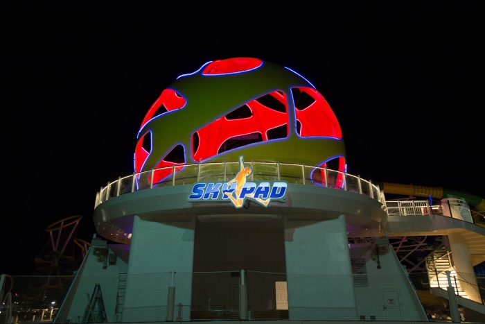 May 2018 - Sky Pad on board the new amped up Independence of the Seas