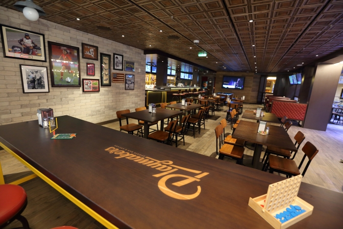 Playmakers Sports Bar & Arcade is the go-to spot for live sporting events on the new amped up Mariner of the Seas.