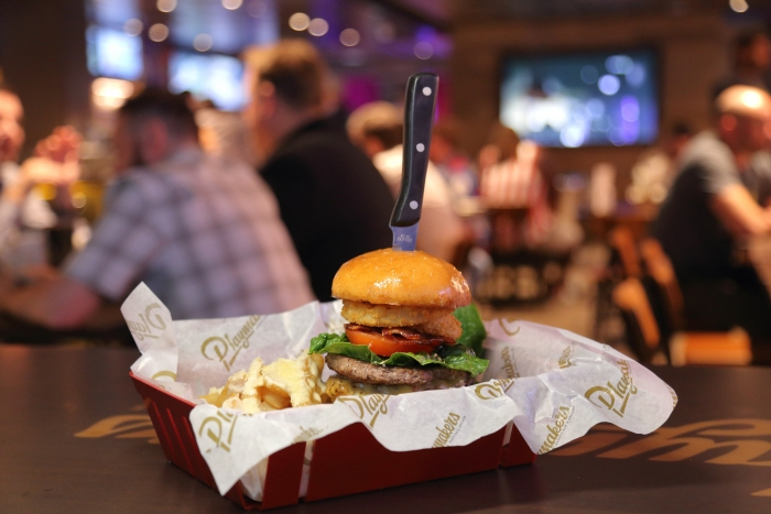 Playmakers Sports Bar & Arcade is the go-to spot for the big game, ice cold beers, wings, sliders and nachos on the new amped up Mariner of the Seas. Playmakers Burger.