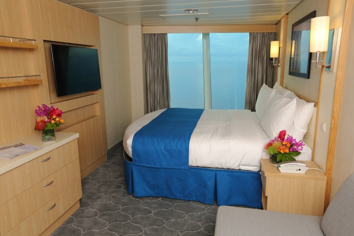 New Panoramic Stateroom onboard the reimagined Mariner of the Seas.