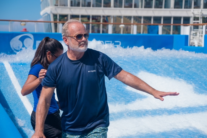 """Royal Caribbean's Harmony of the Seas is making waves in Hollywood this summer with her starring role, alongside Kristen Bell, Kelsey Grammer and Seth Rogen, in the Netflix original """"Like Father."""""""