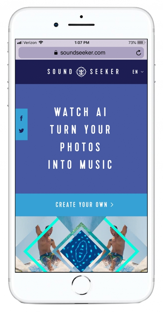 SoundSeeker™ is a groundbreaking AI-powered tool developed by Royal Caribbean that turns memorable photos into one-of-a-kind musical tracks based on their content and mood, redefining the modern vacation album.Credit: Royal Caribbean