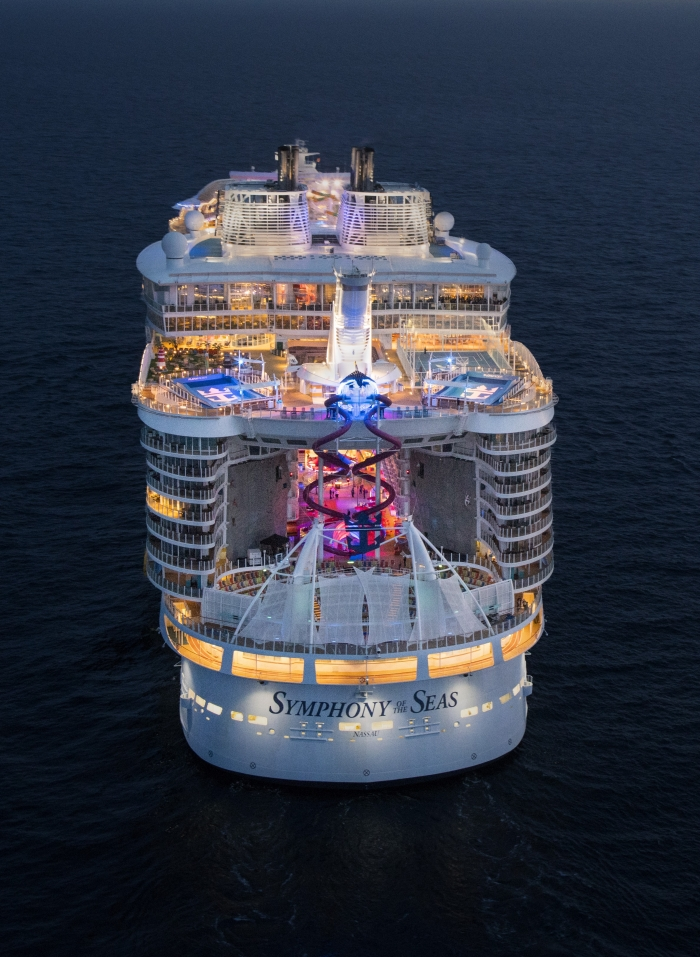 Aerial of Symphony of the Seas