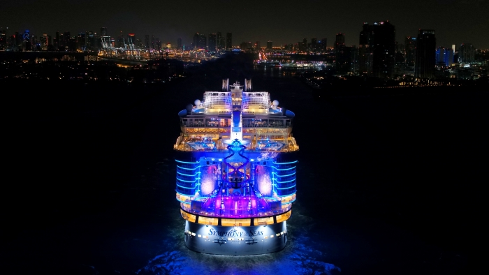 November 8, 2018 - Royal Caribbean International's highly-anticipated Symphony of the Seas arrives into her new home at the state-of-the-art Terminal A in Miami. The ultimate family vacation, Symphony is set to deliver a new sound of adventure with one-of-a-kind experiences for all ages on 7-night Eastern and Western Caribbean cruises.