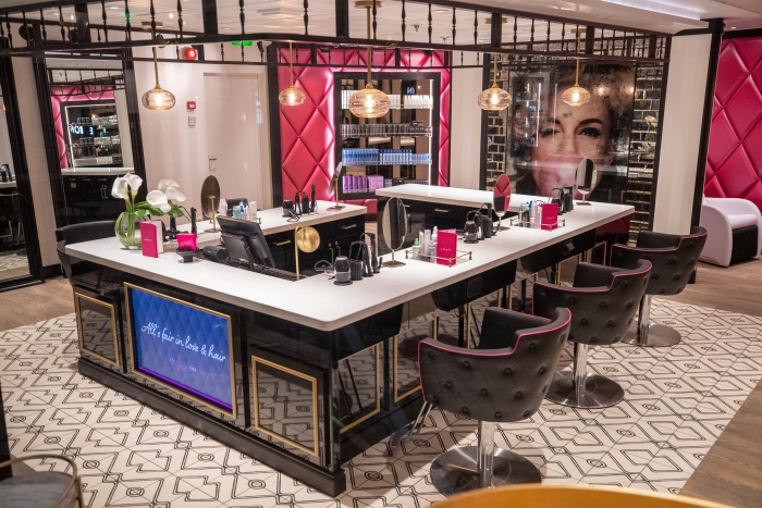 To Dry For is the first standalone blow-dry bar at sea, offering blowouts, hairstyling and other services, plus a selection of wines and champagnes.