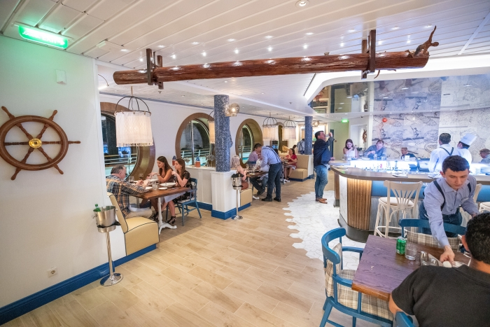 Navigator of the Seas features Hooked Seafood, a casual eatery serving up New England-inspired dishes located on deck 4.