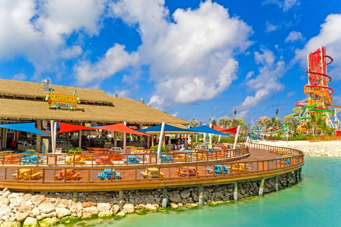 April 2019 – Skipper's Grill at Perfect Day at CocoCay welcomed its first guests today with lunchtime favorites like burgers, sandwiches, tacos and salads.