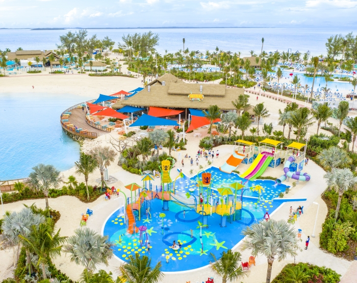 April 2019 - Splashaway Bay at Perfect Day at CocoCay welcomes its first guests today as it officially opens.